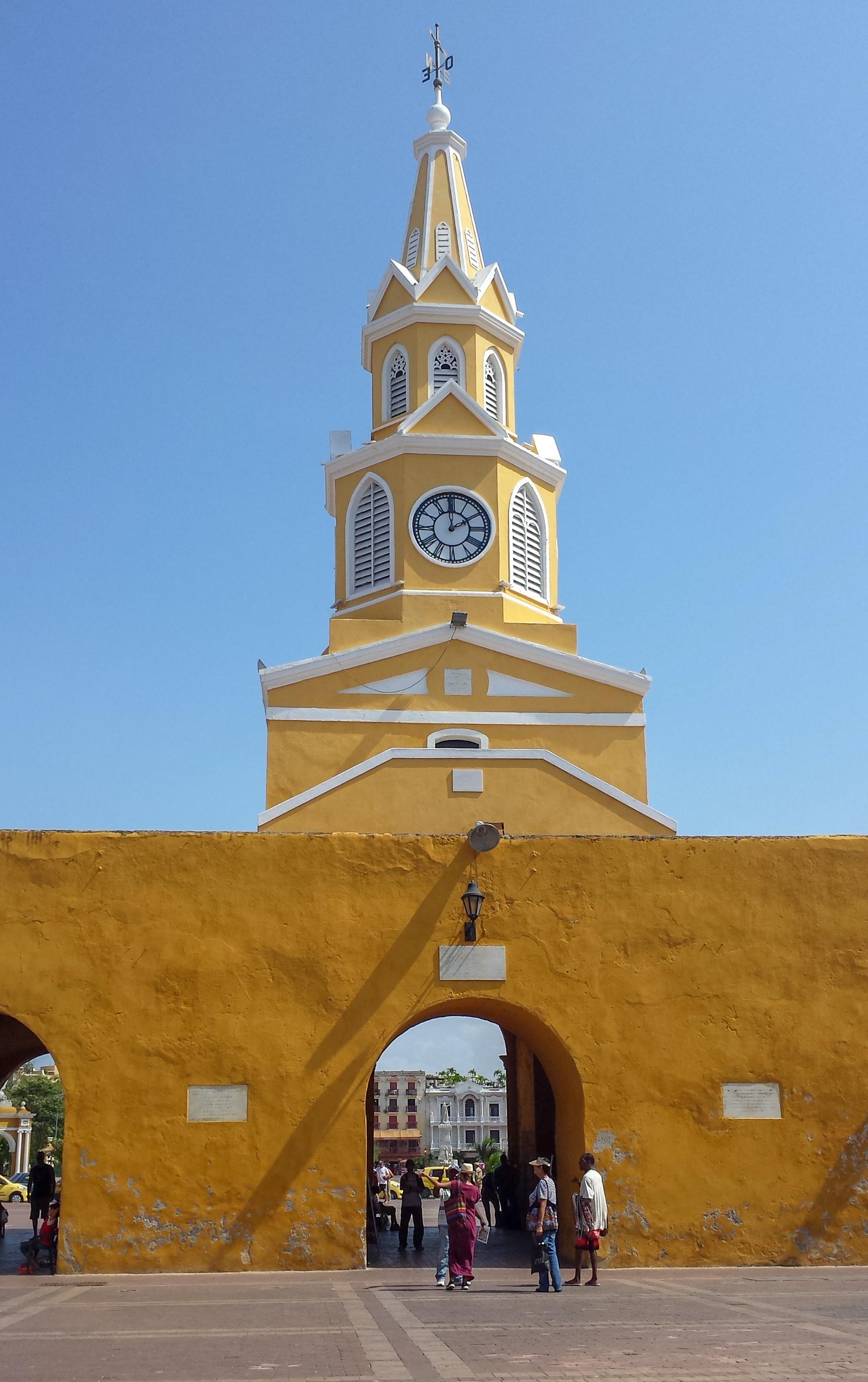 Cartagena horloge publique colombie