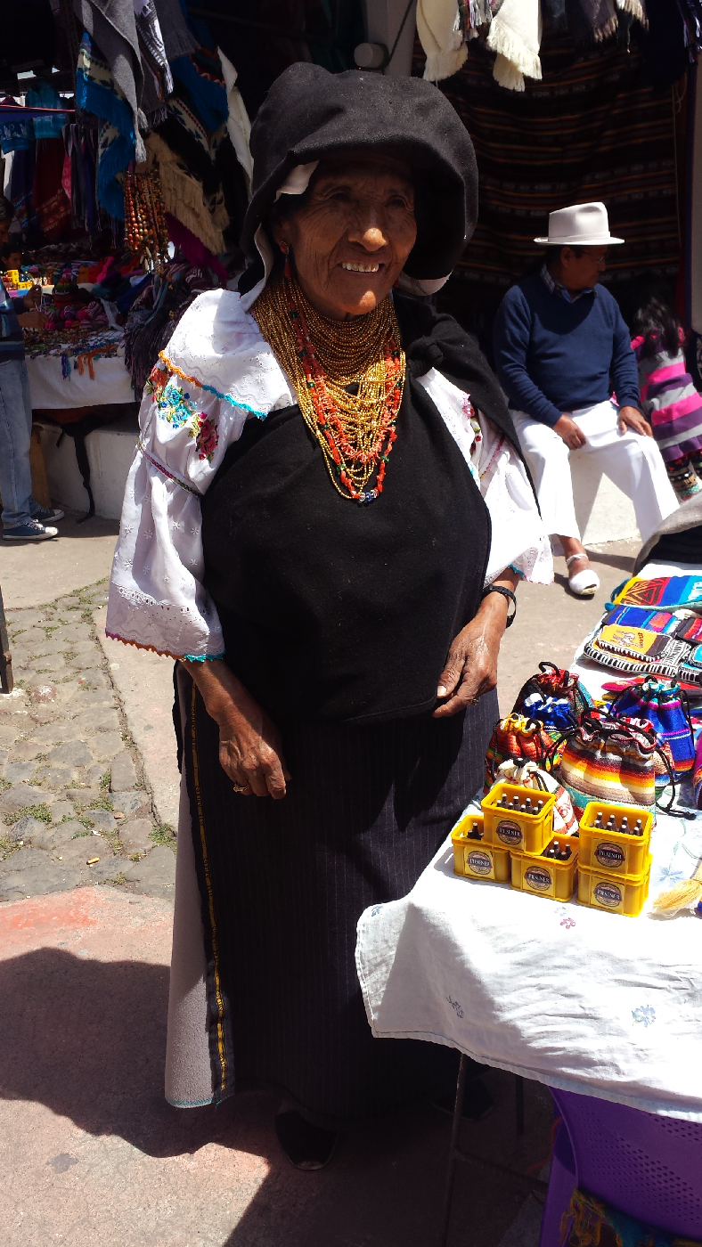 otavalo traditional woman outfit equateur