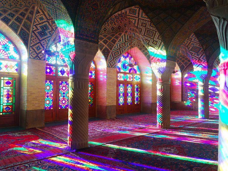 mosque rose shiraz iran