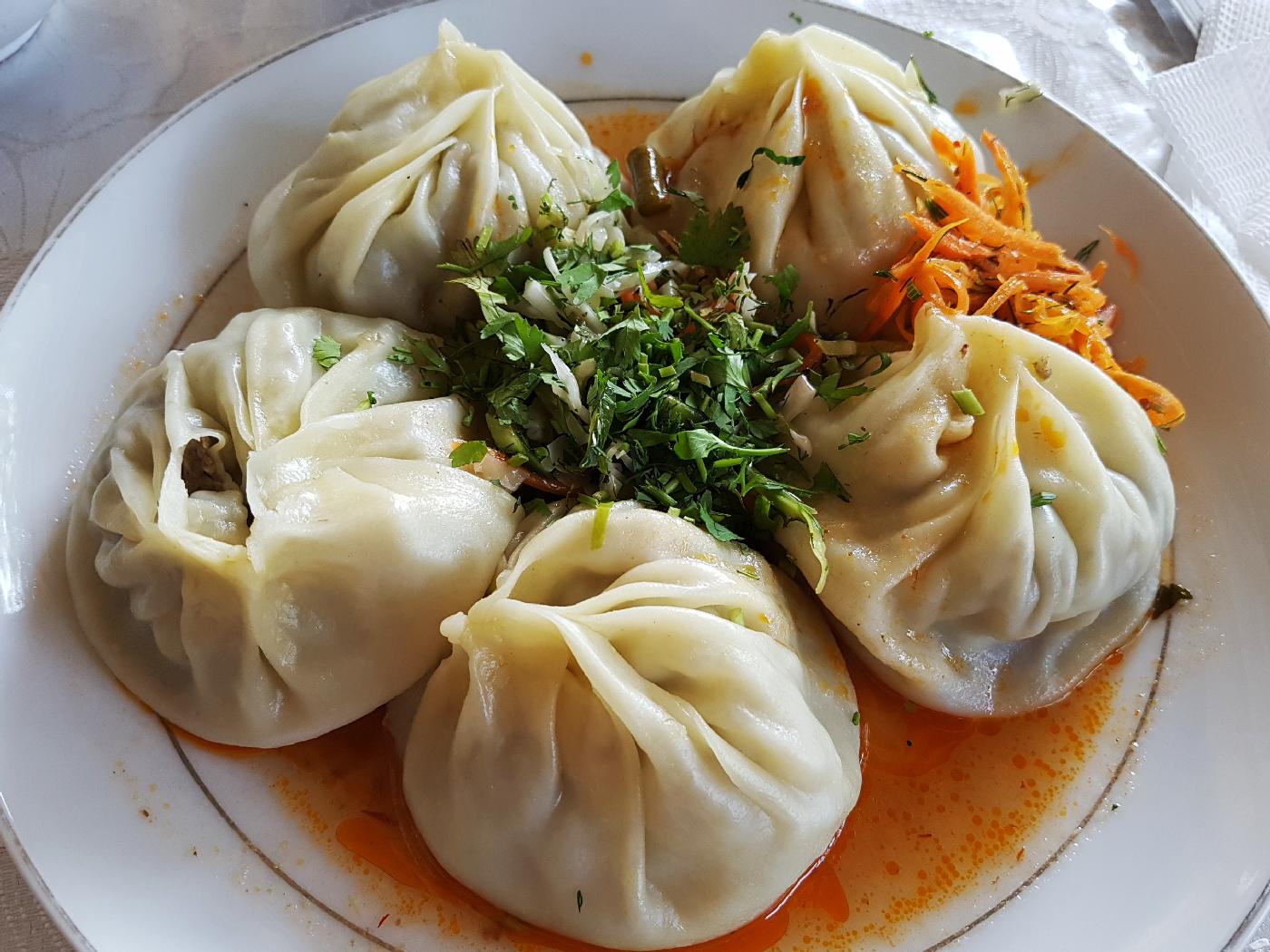 manti, Central Asian dumplings, Khirghizstan