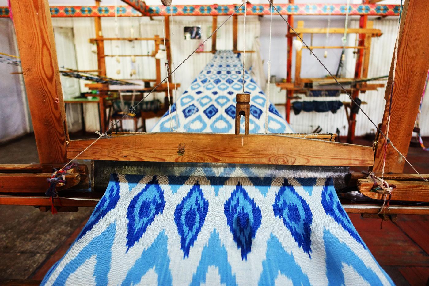 Ferghana Soie fabrique uzbekistan