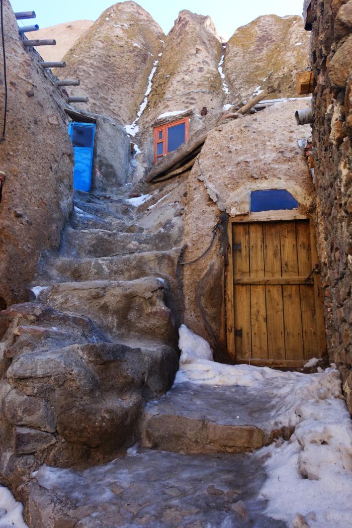 Kavodan village troglodyte Tabriz Iran