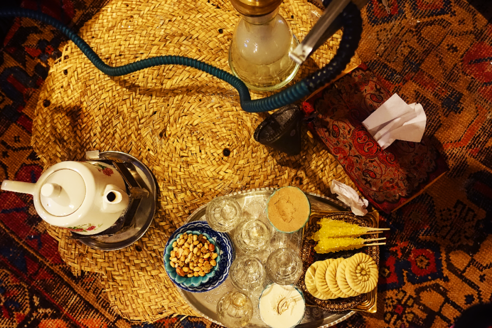 Kerman salon de thé narguile Iran