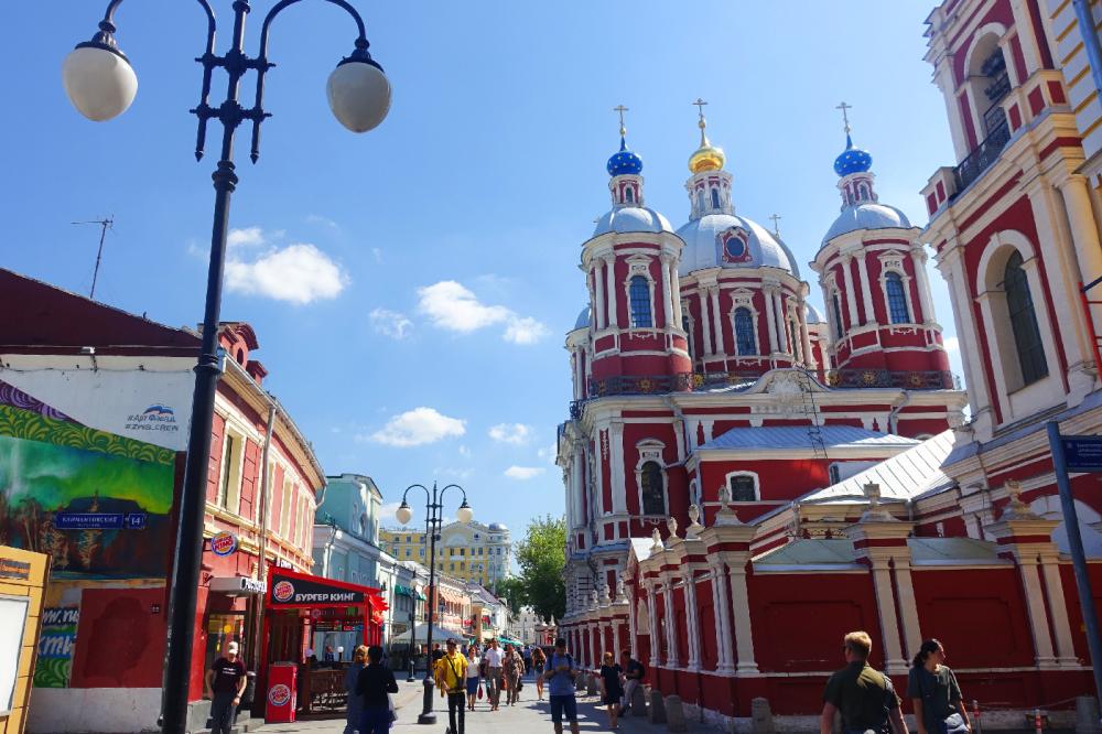 Moscou Russie rue pietonne
