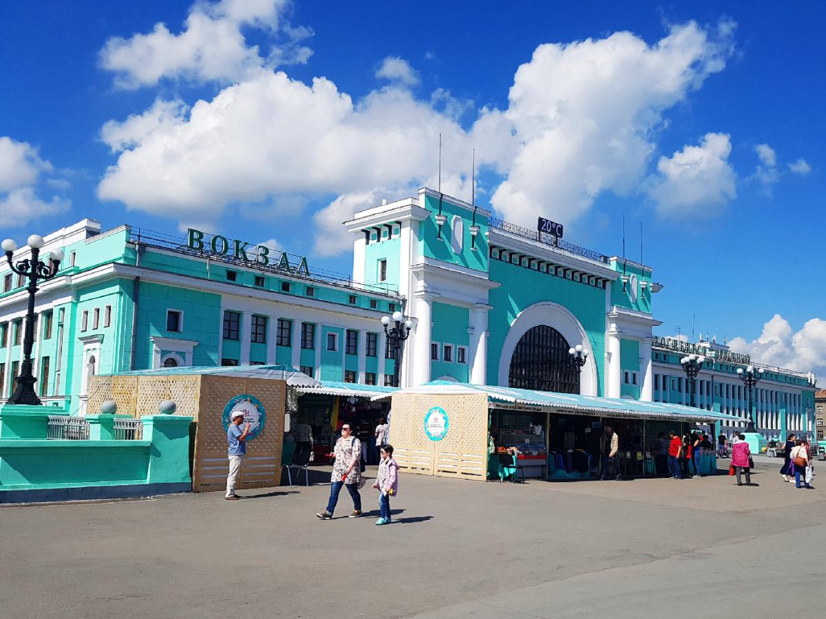 Novossibirsk gare ferroviere Russie