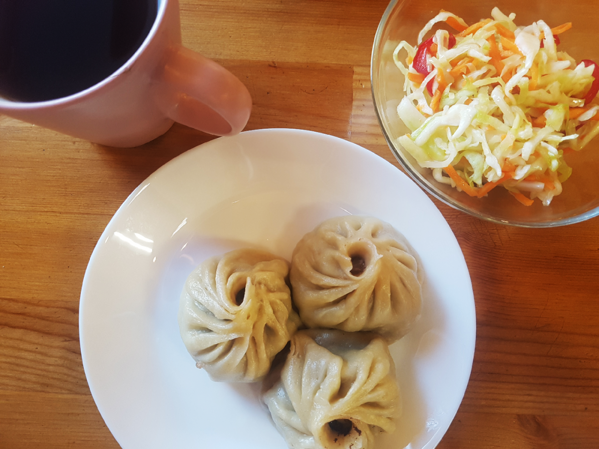 Novossibirsk buuz mongolian dumplings Russie