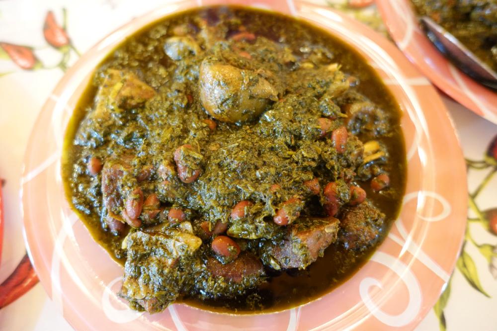 caspienne Gormeh Sabzi cuisine iranienne