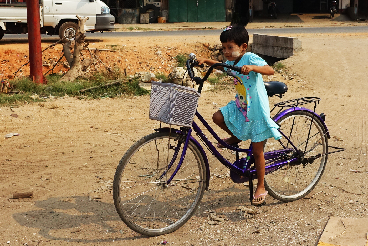 Dawei girl bike Myanmar