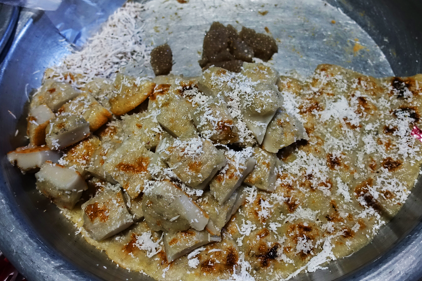 hsipaw night market cakes Myanmar