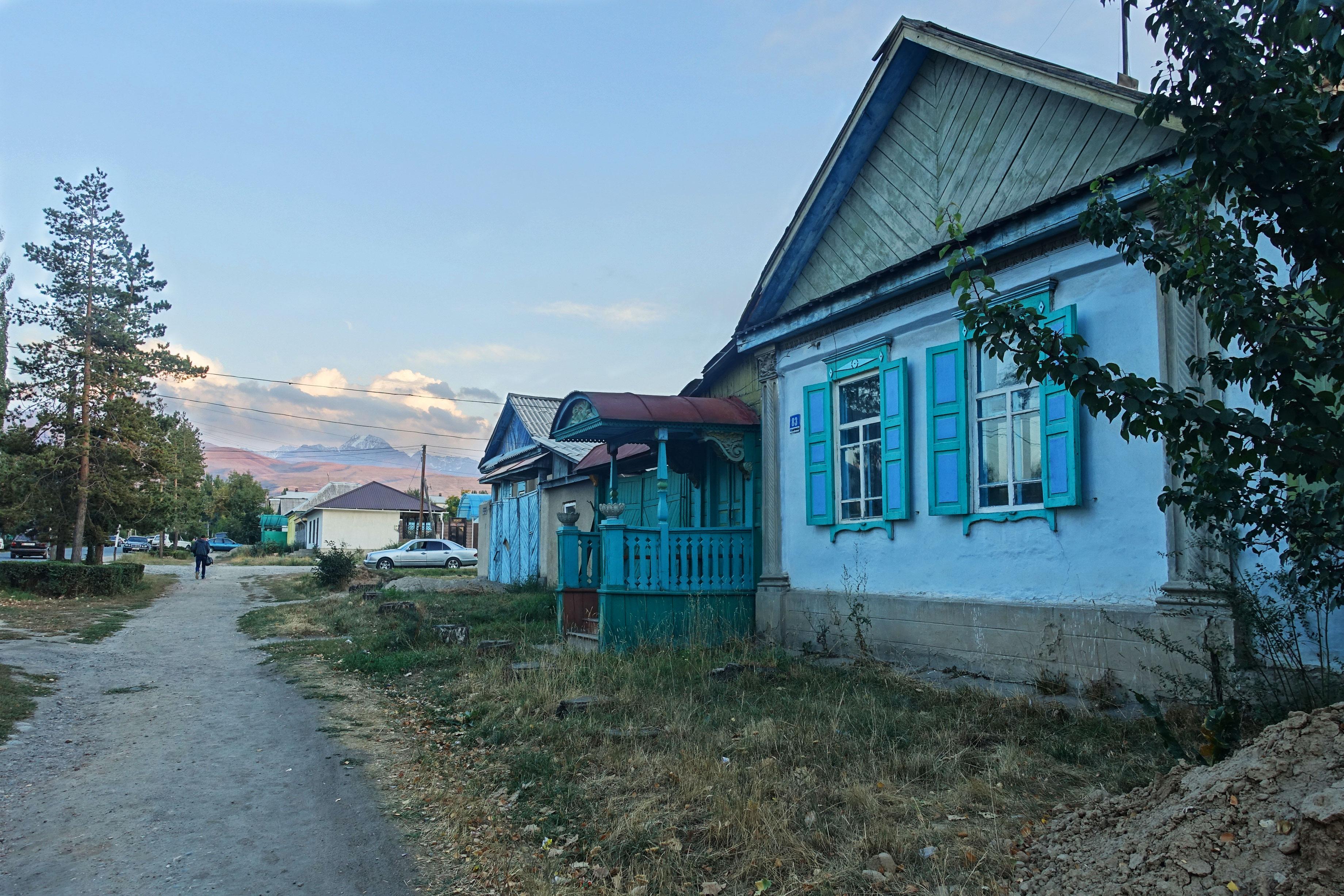 Karakol street Khirghizstan