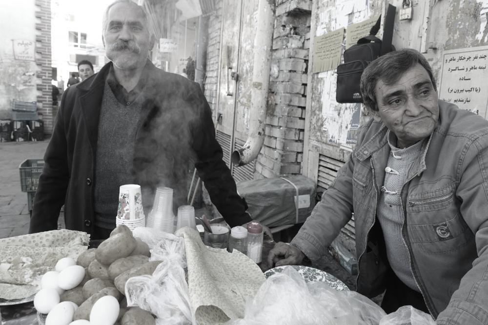 Tabriz breakfast marché Iran